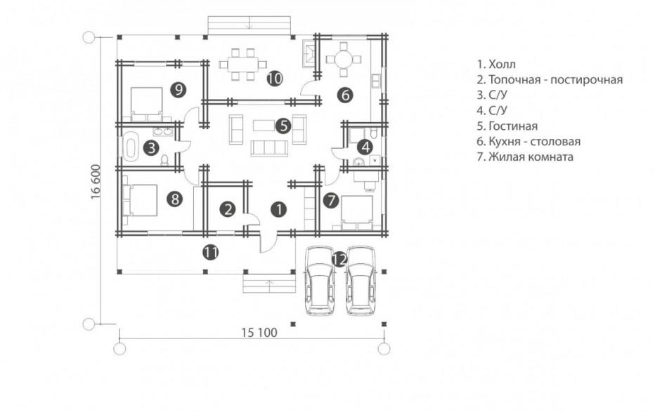 Дом в д. Острошицкий городок. 139,5 м2