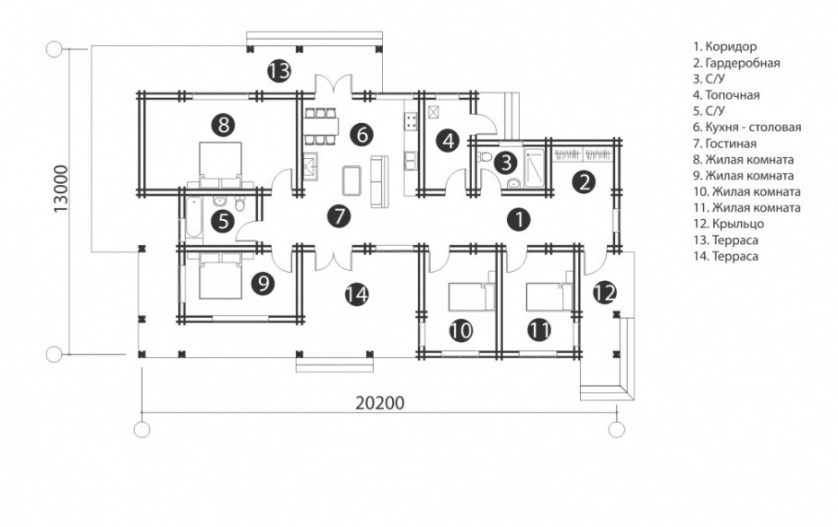 Дом в д. Дуличи. 150 м2