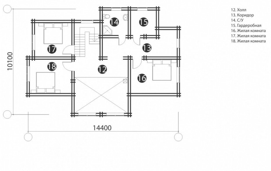 Дом в д. Мацки. 188 м2