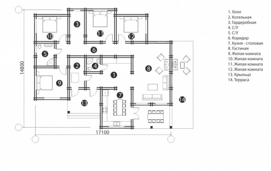 Дом в д. Жорновка. 175 м2