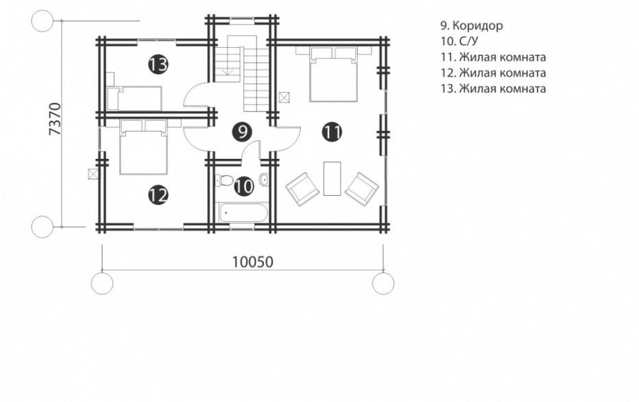 Дом в д. Павелково. 120 м2
