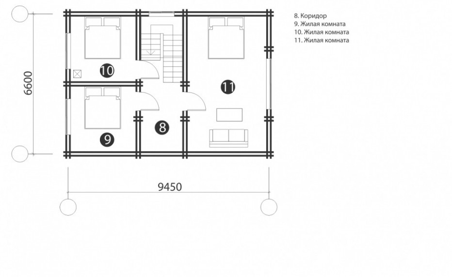 Дом в д. Колодищи. 113 м2