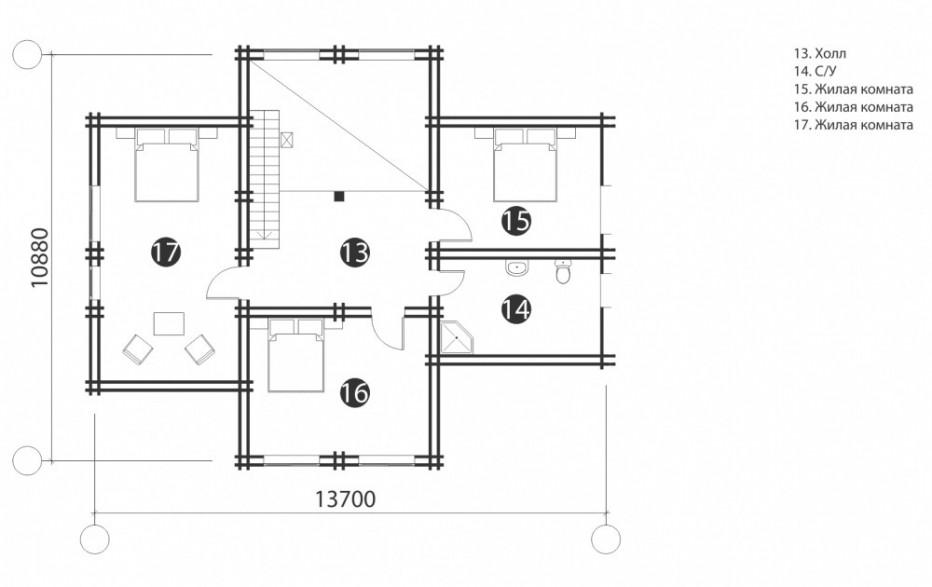 Дом в д. Ляды. 192 м2