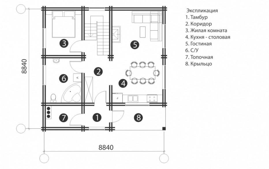 Дом в д. Ковшевичи. 124 м2