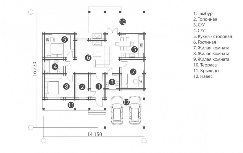 Дом в д. Сокол. 121,6 м2