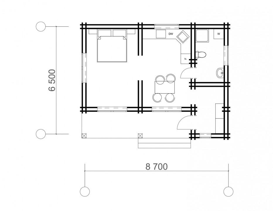 Дом в д. Черемуха, 42 м2