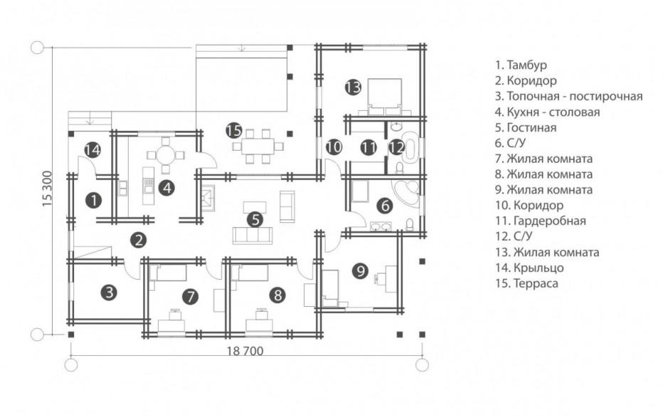 Дом в д. Атолино 177 м2