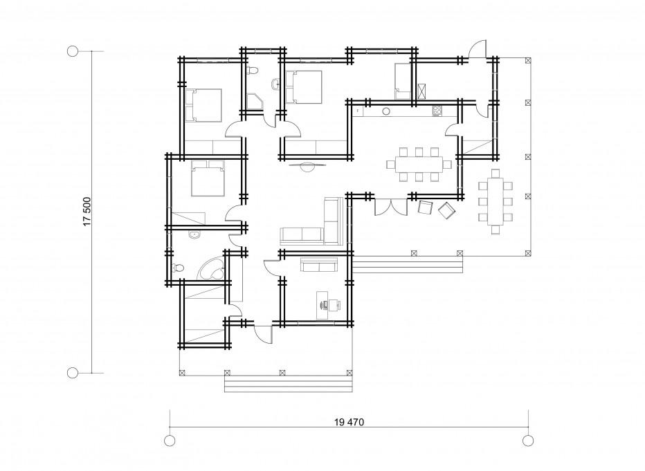 Дом в д. Буденного, 180 м2