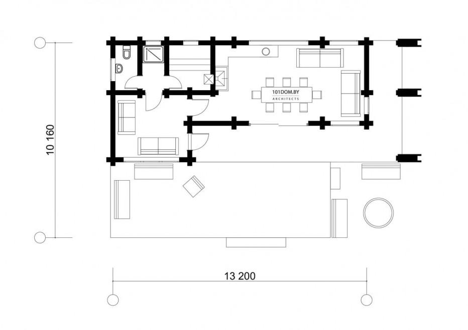 Гостевой дом в д. Поповичи, 80 м2