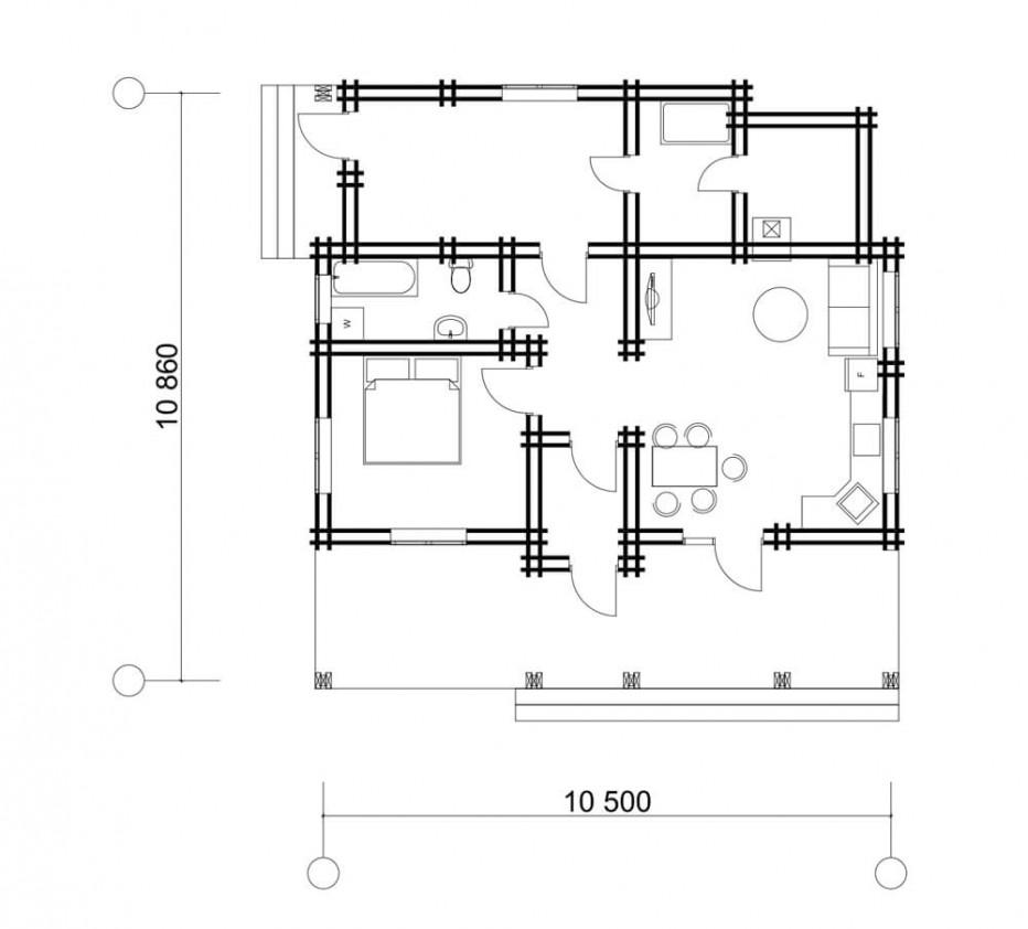 Дом в д. Новая вёска, 78,1 м2