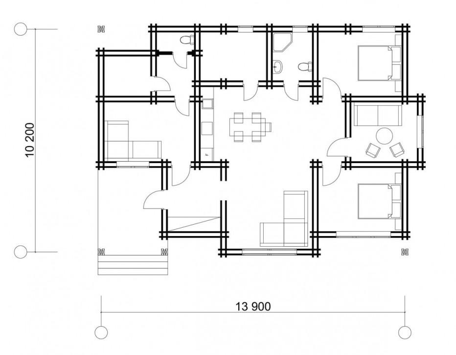 Дом в д. Крылово, 116 м2