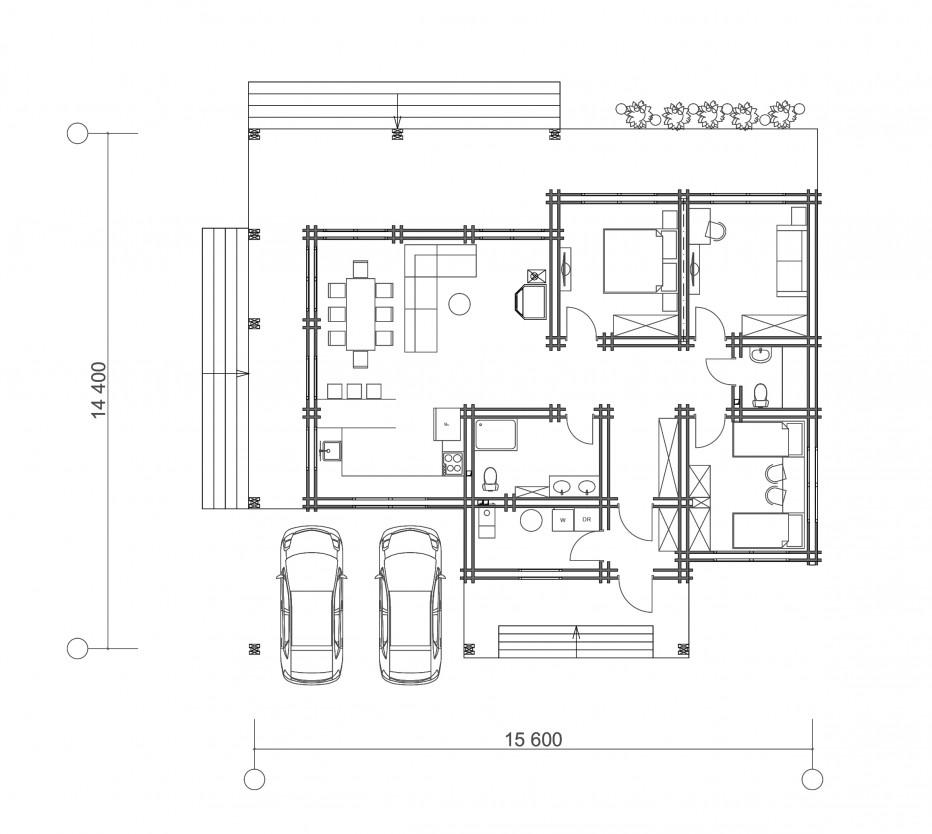 Дом в д. Ладыга 137 м2