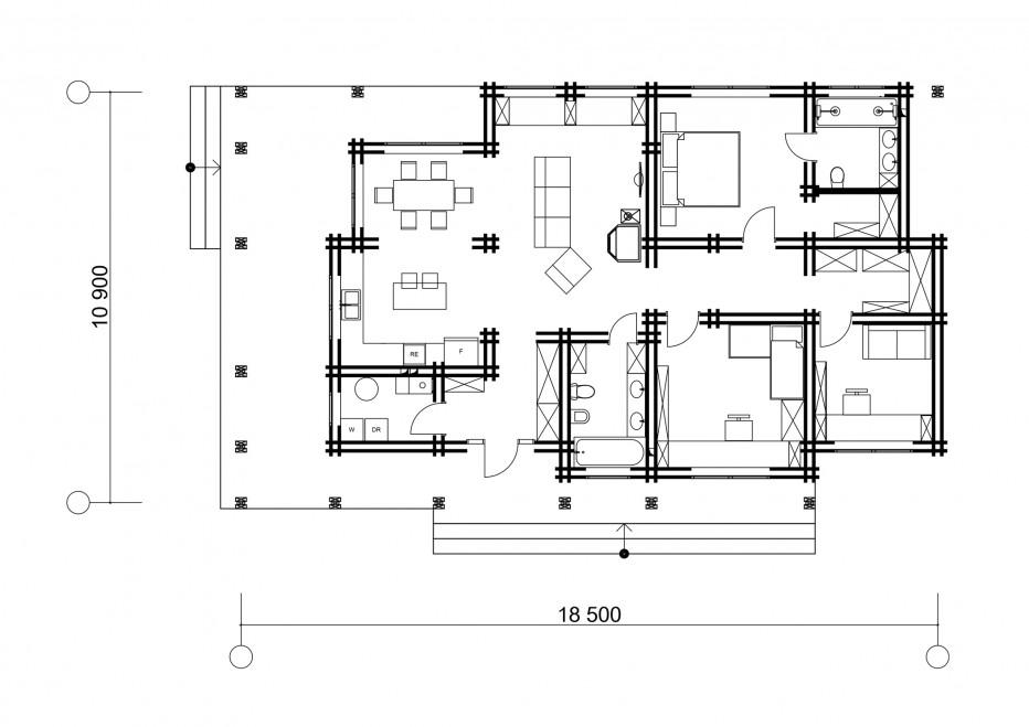 Дом в д. Галица 135м2