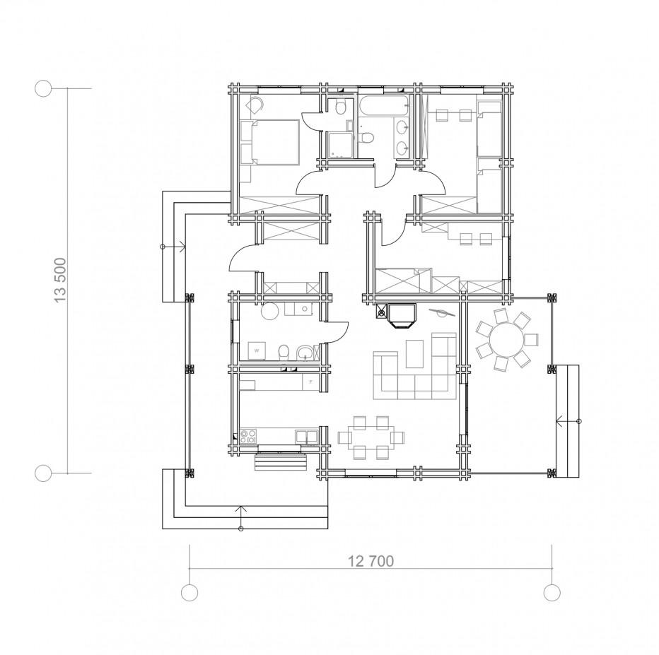 Дом в д. Кисели  108м2