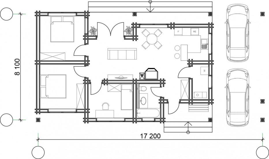 Дом в д. Узборье 99 м2