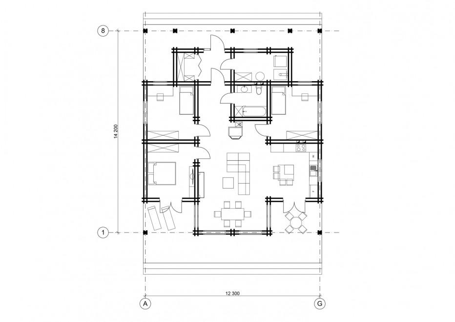 Дом в д. Загорье, 140 м2