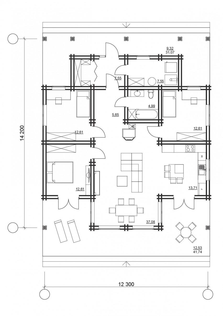 Дом в Плещеницах 137м2