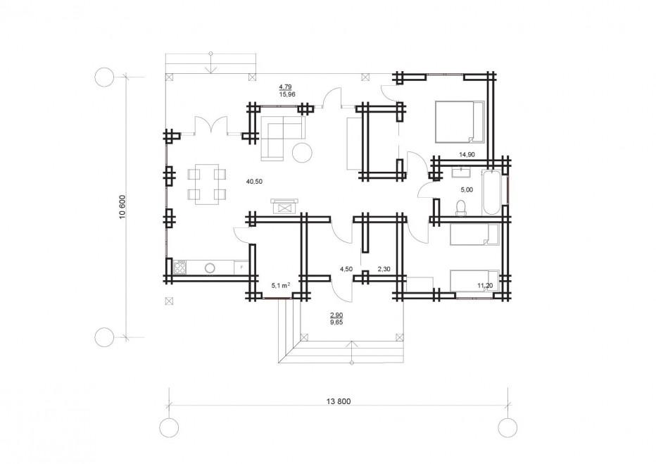 Дом в д. Задомля 135м2