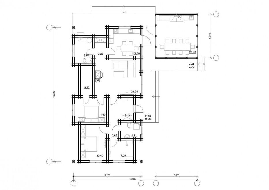 Дом в д. Кучки 140м2