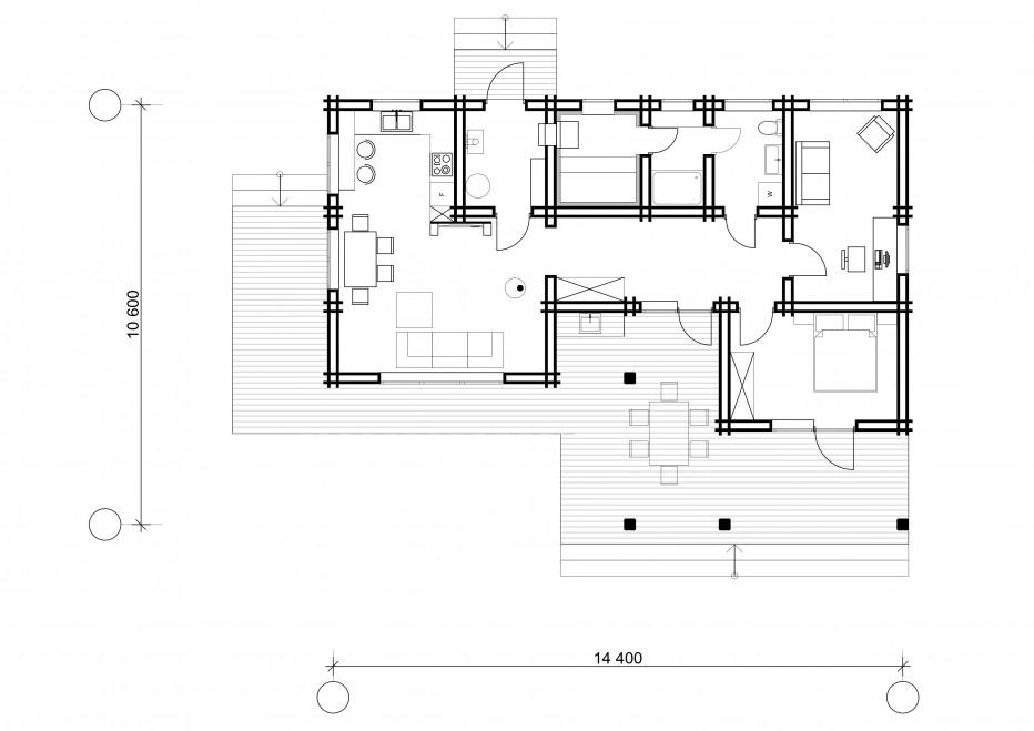 Дом в с.т. Березка, 101 м2