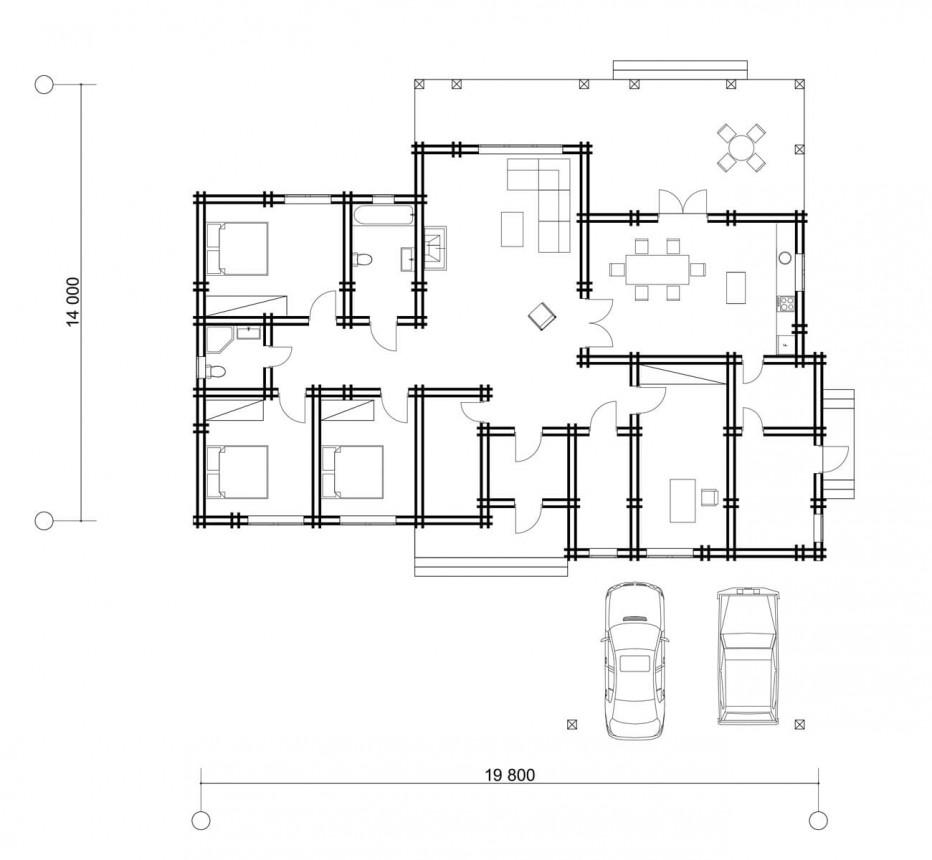 Дом в д. Хатежино, 209 м2