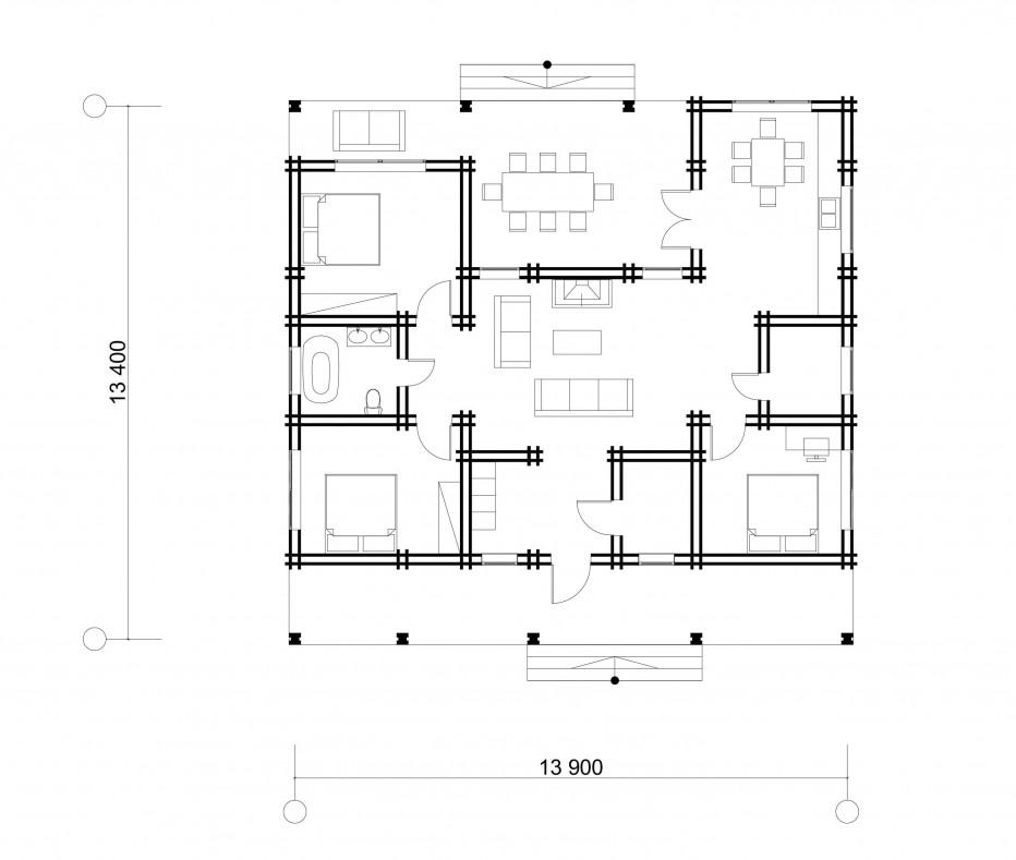 Дом в д. Глебковичи 126м2