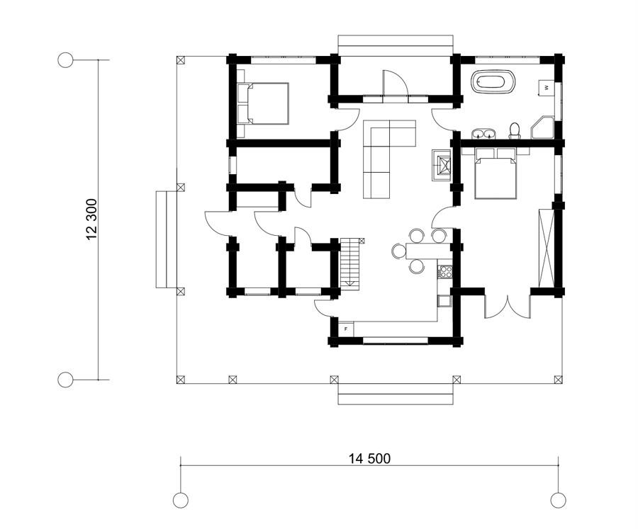 Дом в д. Кисели 106м2