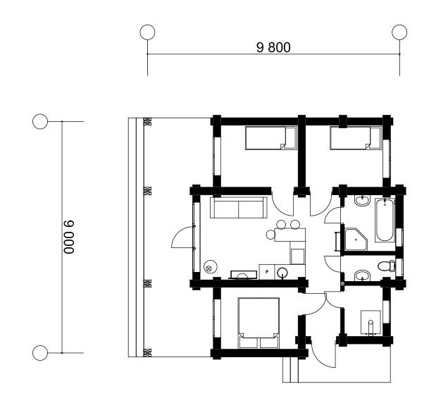 Дом в ст. Озерo 61м2