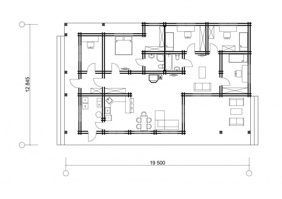 Дом в д. Кавярляны 150м2